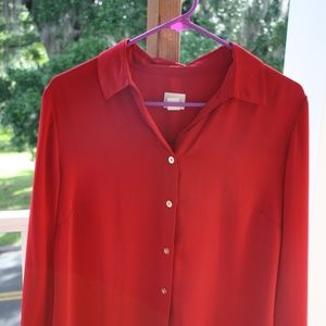 Chico's red dress shirt